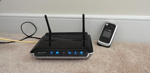 Wireless router and cell phone