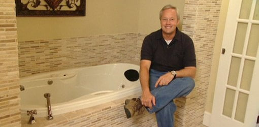 Danny Lipford in completed major bathroom expansion project.