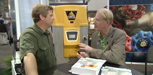 Allen Lyle talking with Ed Begley, Jr.