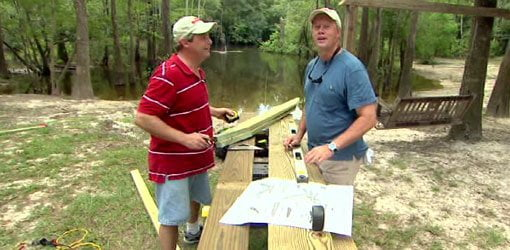Allen Lyle and Danny Lipford tackling DIY outdoor furniture projects.