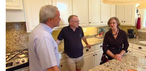 Danny Lipford meets with homeowners after kitchen renovation