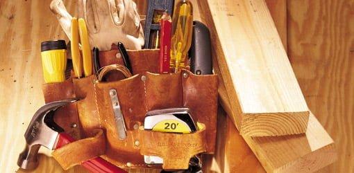 Tools in tool belt