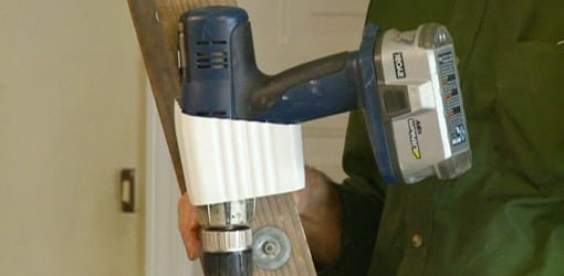Stepladder drill holster.
