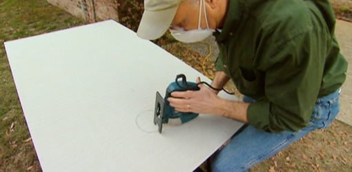 How To Cut Holes In Cement Backer Board With A Jigsaw Today S Homeowner