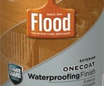 Can of Flood OneCoat Waterproofing Wood Finish
