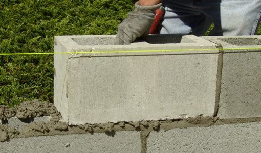 How To Build A Concrete Block Wall Today S Homeowner