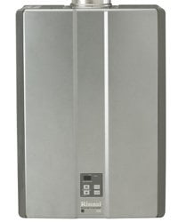 Rinnai tankless water heater.