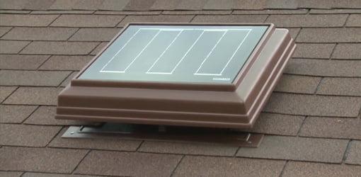 Solar powered attic ventiator.