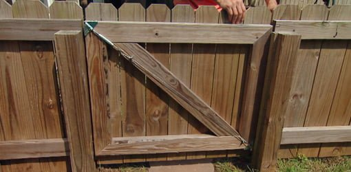 Repairing A Sagging Fence Gate With An Anti Sag Gate Kit