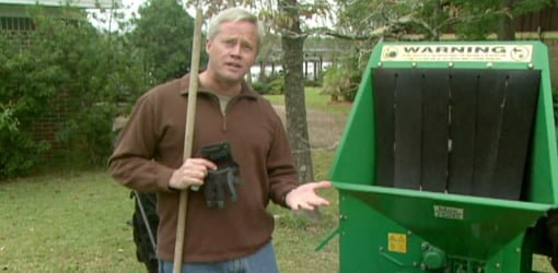 Danny Lipford explains how to use a wood chipper safely.