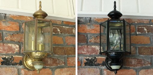 How To Paint Outdoor Light Fixtures