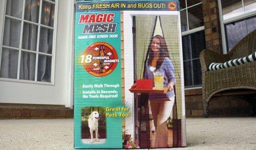 Magic Mesh hands free screen door.