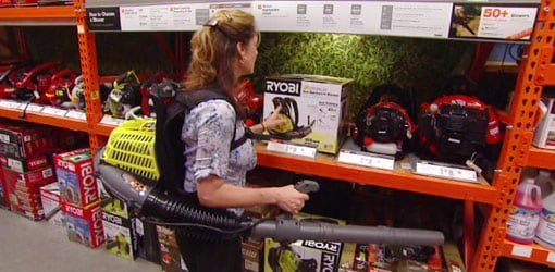 Ryobi Gas Powered Backpack Leaf Blower | Today's Homeowner