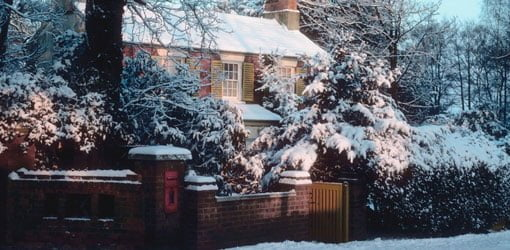 House in the snow.