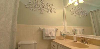 Bathroom after budget makeover.