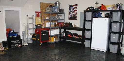 Garage after cleaning and organizing.
