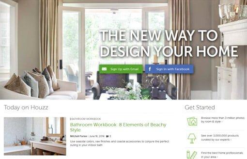 Houzz.com home improvement website for homeowners.