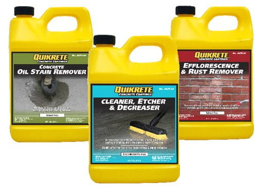 QUIKRETE concrete cleaners.