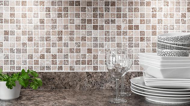 How To Install A Tile Backsplash Using Self Adhesive Mat