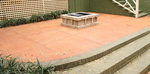 Concrete patio improved with Quikrete cleaner and stain.