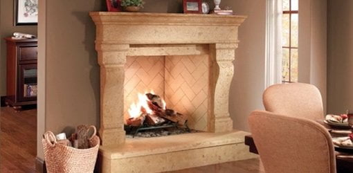 Eldorado Stone Fireplace Surround.