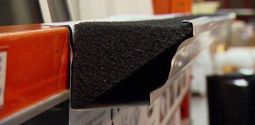 Gutter Stuff foam gutter filter installed in gutter.