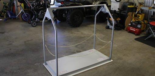 Versa Lift remote controlled attic storage lift.