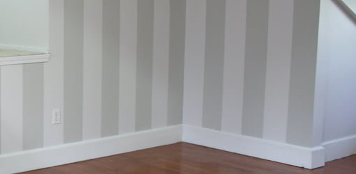 How To Lay Out And Paint Stripes On Interior Walls Today S Homeowner