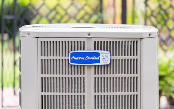 American Standard air conditioner outside at home