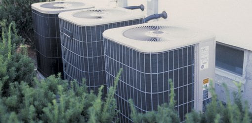 Air conditioner units outside home.