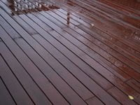 Repaired deck after rain.