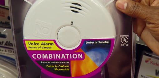 Kidde Worry-Free Smoke and Carbon Monoxide Combination Alarm.