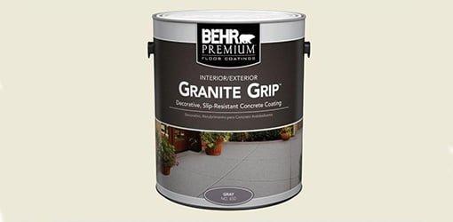 Behr Granite Grip can