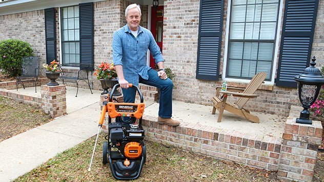 Danny Lipford with a Generac pressure washer.