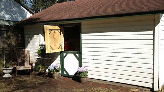 A gate kit can also be used to create a Dutch door on a shed.