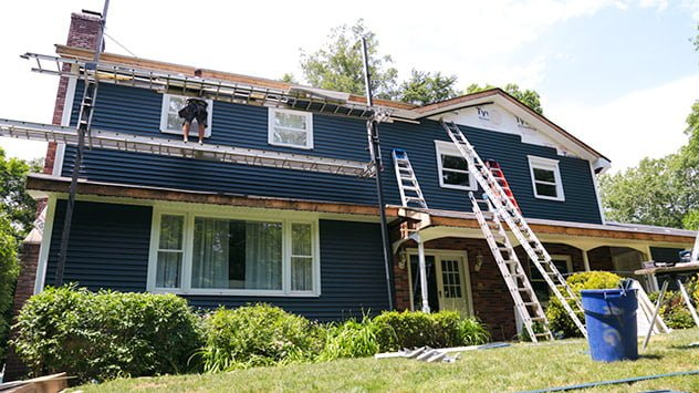 The house gets a makeover with siding from Royal Building Products.