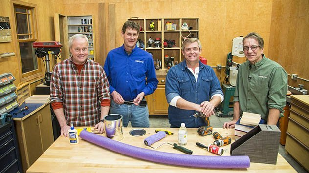 Danny Lipford and Allen Lyle join Carlsen and Larsen in The Family Handyman studio.