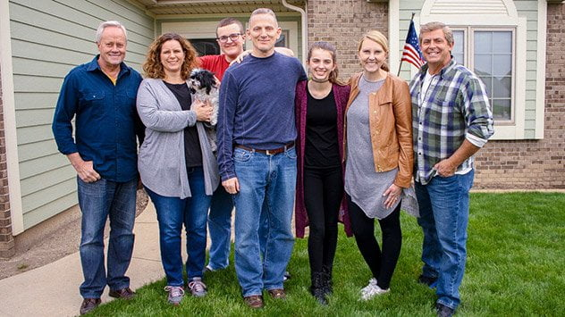 The Sondag family with Danny Lipford, Chelsea Lipford Wolf and Allen Lyle.