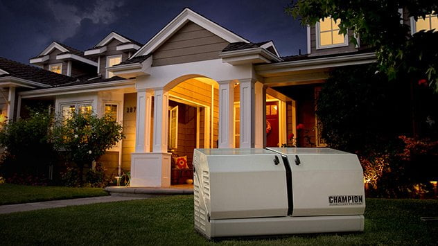 A standby generator automatically powers your home when the power goes out.