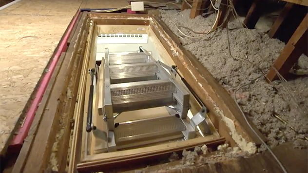 How To Hang Attic Stairs Today S Homeowner