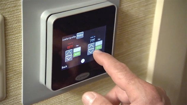 Keep your guests comfortable with the Carrier Côr Wi-Fi programmable thermostat.