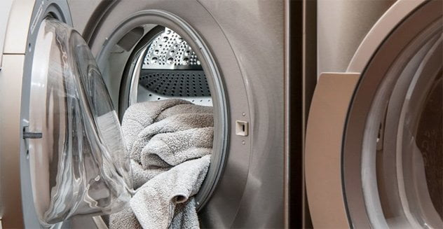 Stainless Steel Washer and Dryer