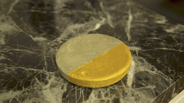 Gold concrete coaster