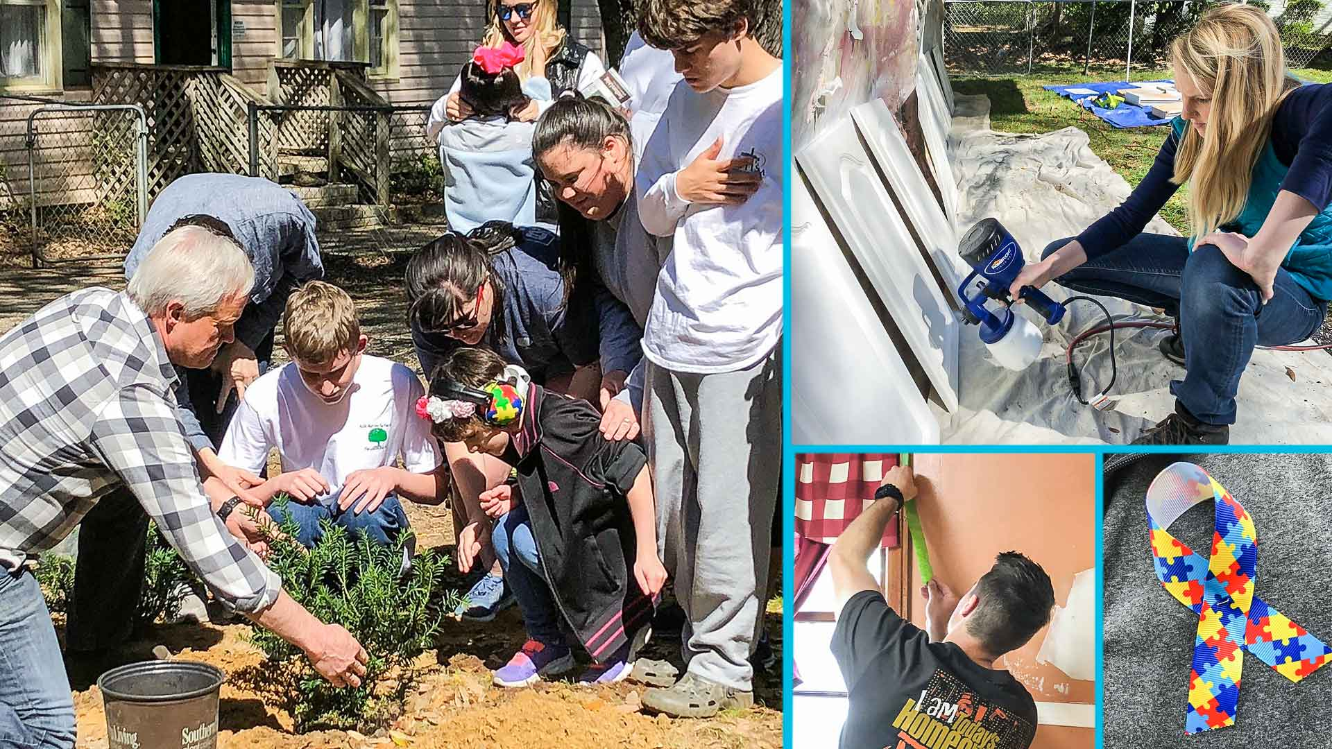 'Today's Homeowner' hosts Danny Lipford and Chelsea Lipford Wolf renovate The Learning Tree, a nonprofit for children with autism