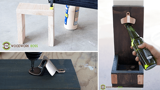 How To Make A Wood Bottle Opener Cap Catcher Today S Homeowner
