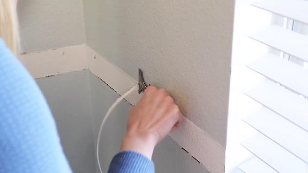 scrape-lumps-bumps-wall
