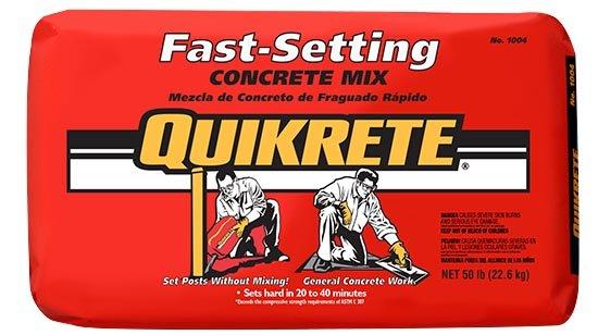 Fast-setting concrete