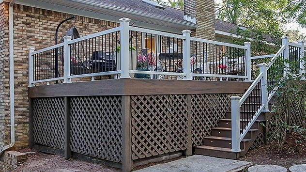 Michael and Jessica's deck