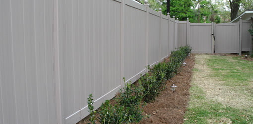 Vinyl privacy fence in Today's Backyard.