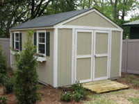 Site built storage shed.